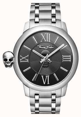 Thomas Sabo カルマステンレススカル腕時計とメンズ反逆者 WA0304-201-203