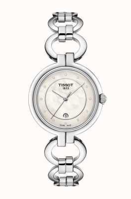 Tissot レディースフラミンゴステンレススティールマザーオブパールダイヤル T0942101111600