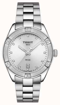 Tissot レディースpr 100スポーツシックダイヤモンド日付表示を設定 T1019101103600