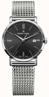 Maurice Lacroix レディースeliros milanaisステンレスストラップブラックダイヤル EL1084-SS002-313-1