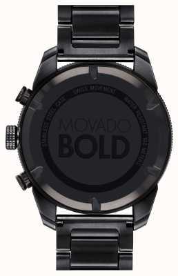 Movado メンズ大胆な黒のipメッキスポーツのクロノグラフ 3600514