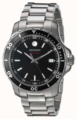Movado メンズシリーズ800ステンレススチールブラックダイヤル 2600135