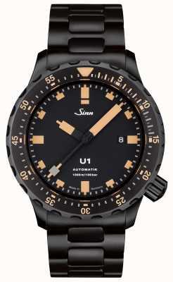 Sinn U1セの黒いブレスレットの時計 1010.023 BRACELET