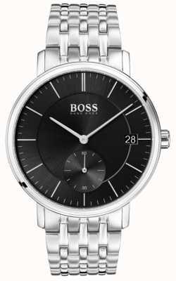 Boss メンズコラルステンレスブラックダイヤル 1513641