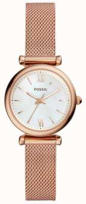 Fossil レディースミニカルリーバラゴールドトーンメッシュブレスレットウォッチ ES4433