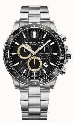 Raymond Weil メンズタンゴ300腕時計ステンレススチールブレスレットブラッククロノ 8570-ST1-20701