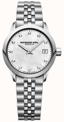 Raymond Weil パールダイヤルダイヤモンドの女性のフリーランサーの母 5626-ST-97081