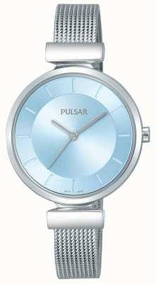 Pulsar レディースステンレススティールストラップライトブルーダイヤル PH8411X1