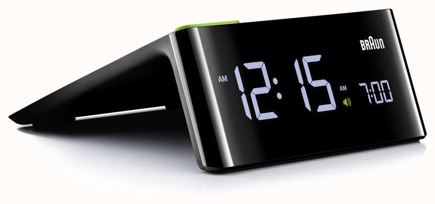 Braun デジタルベッドサイド目覚まし時計|液晶ディスプレイ BNC016BKUK