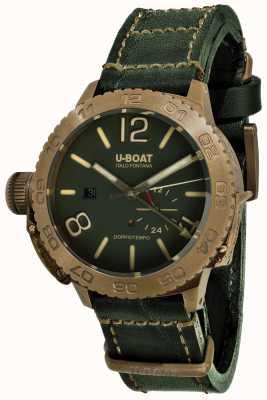 U-Boat Doppiotempo 46 bronzo gr自動グリーンレザーストラップ 9088