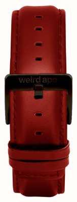 Weird Ape レッドレザー20mmストラップブラックバックル ST01-000077