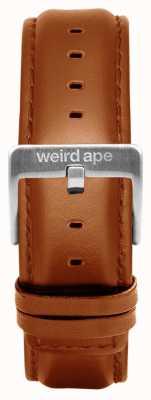 Weird Ape タン革20mmストラップシルバーバックル ST01-000100