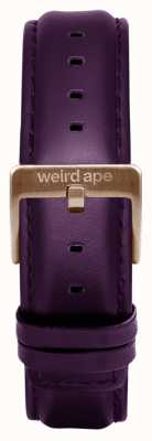 Weird Ape Aubergineレザー16mmストラップチョコレートバックル ST01-000068