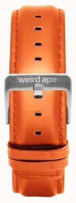Weird Ape オレンジレザー20mmストラップシルバーバックル ST01-000111