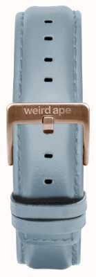 Weird Ape パウダーブルーレザー16mmストラップローズゴールドバックル ST01-000029