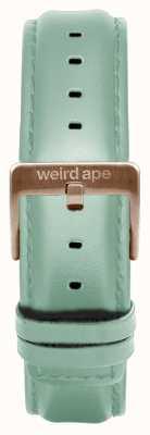 Weird Ape ミントグリーンレザー16mmストラップローズゴールドバックル ST01-000042