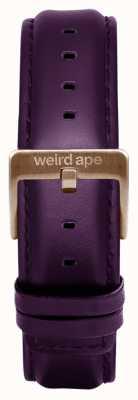 Weird Ape Purpleleather 16mmストラップローズゴールドバックル ST01-000036