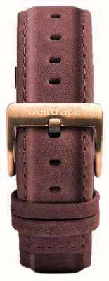 Weird Ape パステルピンクのレザー16mmストラップローズゴールドバックル ST01-000033