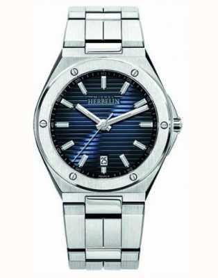Michel Herbelin メンズステンレススチール腕時計ブルーダイヤル 12245/B15