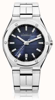 Michel Herbelin メンズステンレススチール時計ブルーダイヤル 12245/B15