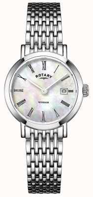 Rotary レディースステンレススチールブレスレットウォッチ LB05300/39