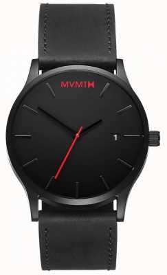 MVMT クラシックブラックレザー|黒いストラップ|ブラックダイヤル D-L213.5L.551