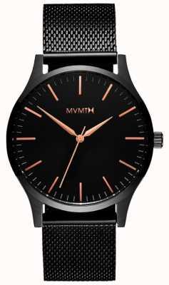 MVMT 40シリーズブラックローズ|黒のpvdメッシュ|ブラックダイヤル D-MT01-BBRG