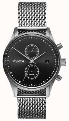 MVMT ボイジャーステンレスメッシュ|ブラックダイヤル D-MV01-S2