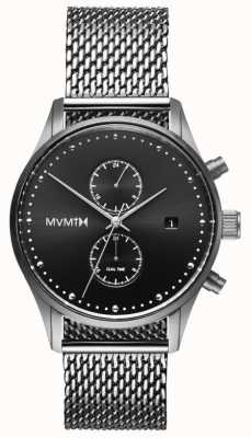 MVMT ボイジャースターリング|ステンレス鋼メッシュ|黒文字盤 D-MV01-S2
