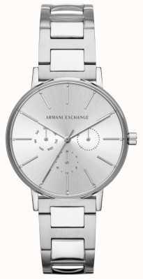 Armani Exchange レディースララステンレススチールシルバークロノグラフウォッチ AX5551
