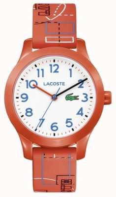 Lacoste 12.12キッズオレンジストラップホワイトダイヤル 2030010