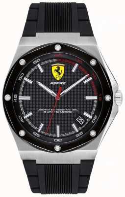 Scuderia Ferrari メンズアスパイアブラックラバーストラップデイト表示 0830529