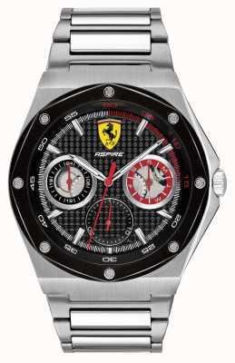 Scuderia Ferrari メンズはステンレススチールのブラックダイヤルの日付表示を熱望しています 0830535