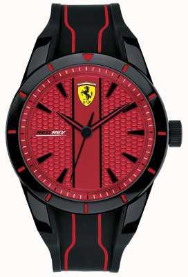 Scuderia Ferrari メンズredrevレッドダイヤルブラックラバーストラップ 0830540