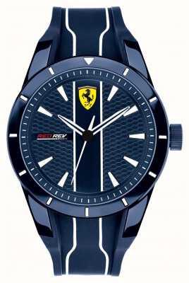 Scuderia Ferrari メンズredrevブルーダイヤルブルーラバーストラップ 0830541