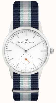 Smart Turnout シグネチャーウォッチ - ホワイト、ストラップ付き STK3/WH/56/W