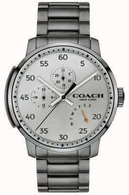 Coach メンズbleecker多機能時計グレー 14602360