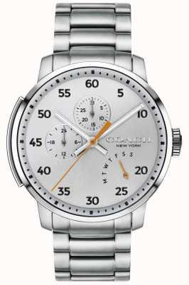 Coach メンズbleecker多機能腕時計シルバー 14602358