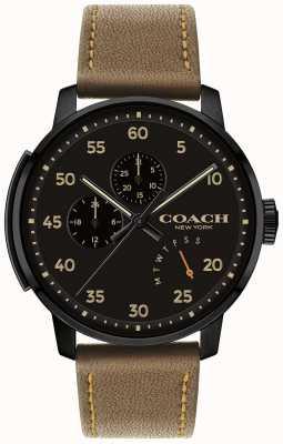 Coach メンズブリーカー腕時計マルチ機能ブラックダイヤル 14602339