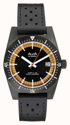 Alsta サーフアンドスキー限定版ブラックpvdメッキブラックレザー SURF N SKI