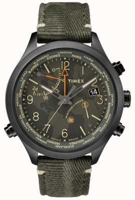 Timex ウォーターベリーワールドタイム43ミリメートルファブリックウォッチ TW2R43200VQ