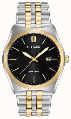 Citizen エコドライブcorso wr100 |ブラックダイヤル|ステンレススチールストラップ| BM7334-58E