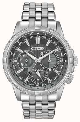Citizen エコ・ドライブ・カレンダー・ステンレス32ダイヤモンドグレーダイヤル BU2080-51H