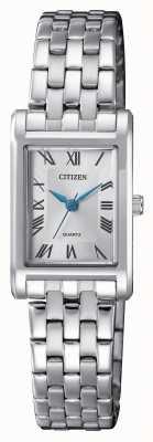 Citizen レディースクォーツシルバーダイヤルブレスレット EJ6120-54A