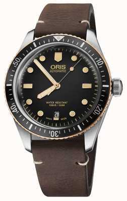 Oris Divers 65ブラウンレザーストラップ 01 733 7707 4354-07 5 20 55