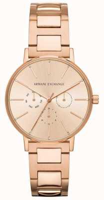 Armani Exchange ローラーレディースローズゴールドpvdメッキ AX5552
