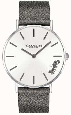 Coach レディースペリーグレーレザーストラップウォッチ 14503155