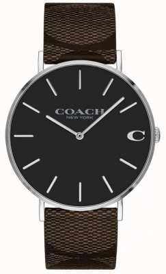 Coach レディースボーイフレンド明るいピンクのダイヤルの腕時計 1402156