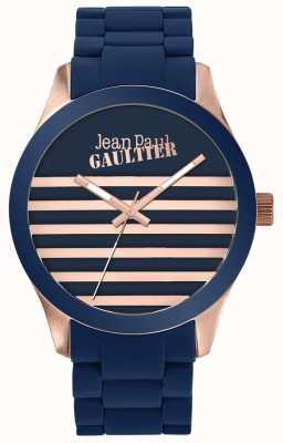 Jean Paul Gaultier エンファンテスはユニセックスブルーとローズゴールドラバーウォッチ JP8501127