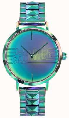 Jean Paul Gaultier 悪い女の子の緑の虹の効果の金属の腕時計 JP8505705